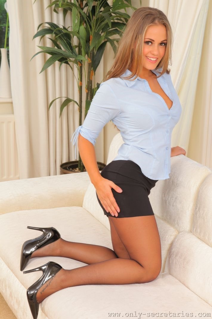 Secretaries in short skirts
